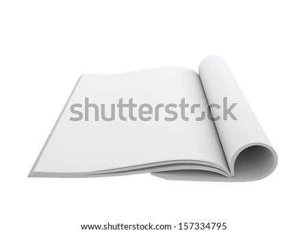 Open book. 3d render isolated on white background - stock photo