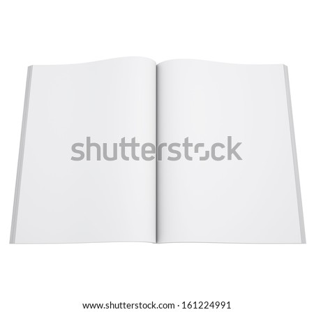 Open book. 3d render isolated on white background