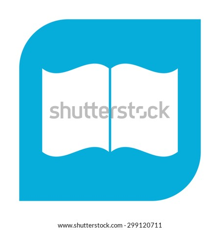 Open book icon. - stock photo