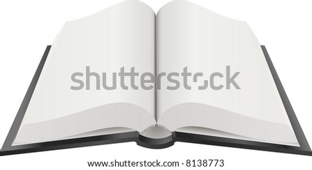 Open Book Illustration. A  illustration of an open book with blank pages