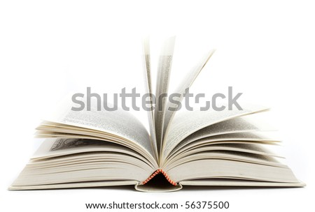 open book isolated - stock photo