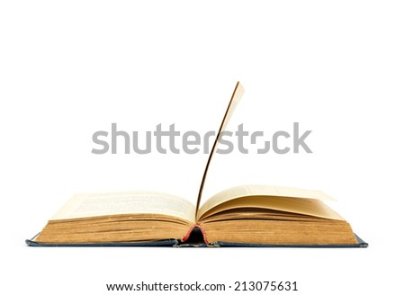 Open book isolated soft background - stock photo