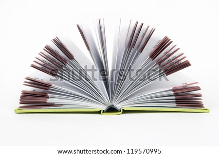 Open book. Notebook isolated on white