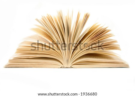 open book, old yellow book