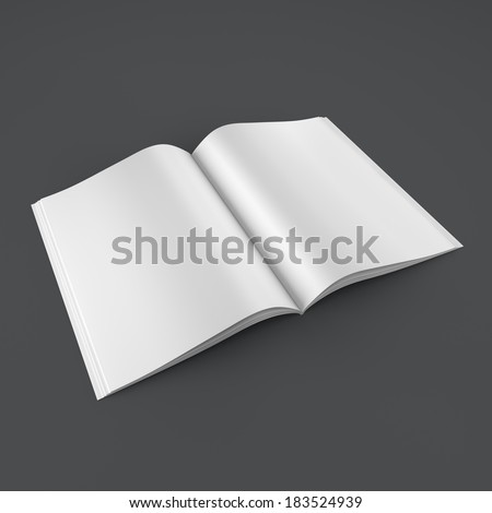 Open book on clean background - stock photo