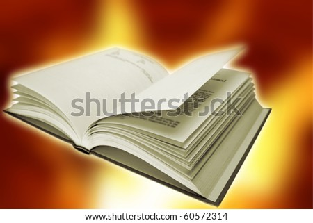 Open book on color background - stock photo