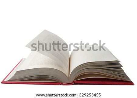 Open book on plain background - stock photo