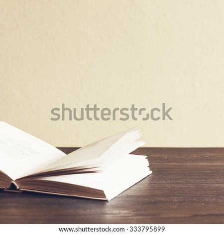 Open Book On The Table./ Open Book On The Table - stock photo