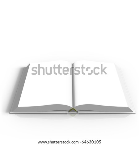 Open book on white gradient background