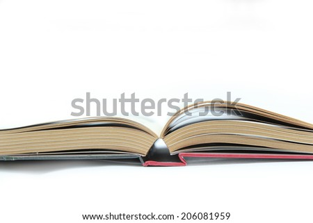 Open book Open book isolated on white  background