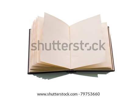 Open book over a white background - stock photo