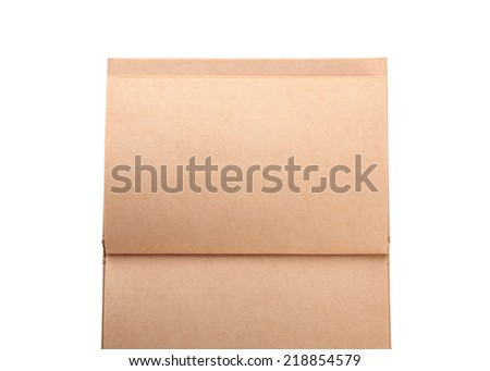 open book paper blank page on white background - stock photo