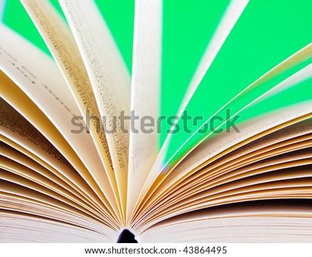 open book shallow dof - stock photo