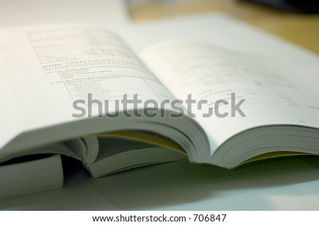 open book, soft focus - stock photo