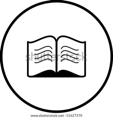open book symbol - stock photo