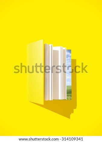 Open book. Template poster for you idea. - stock photo