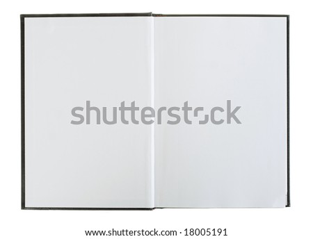 Open book with blank pages. - stock photo