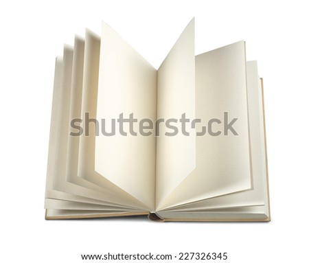 Open book with blank pages - stock photo