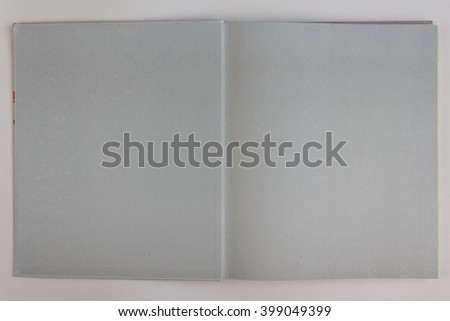 open book with blank pages, empty page book  - (vintage color tone) - stock photo