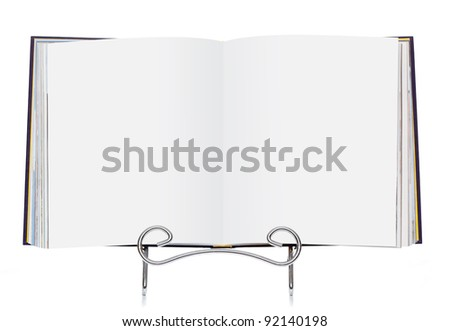 Open book with clipping path - add your own content! - stock photo