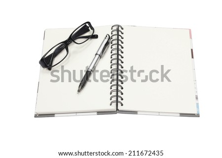 Open book with empty pages - stock photo
