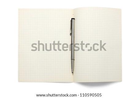 Open Book With Pen - stock photo