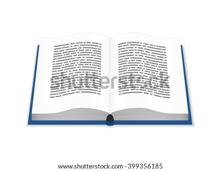 Open book with text isolated on white