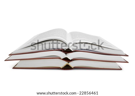 open books isolated on white