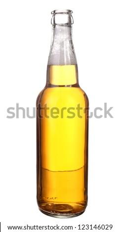 Open bottle neck - stock photo