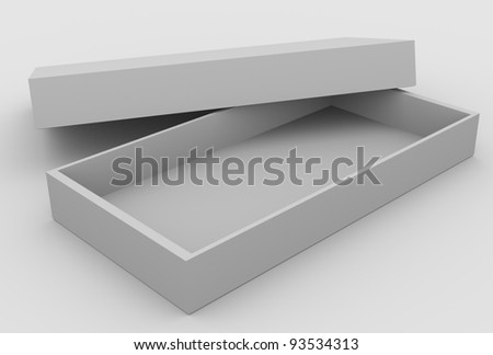 Open box, 3d image - stock photo