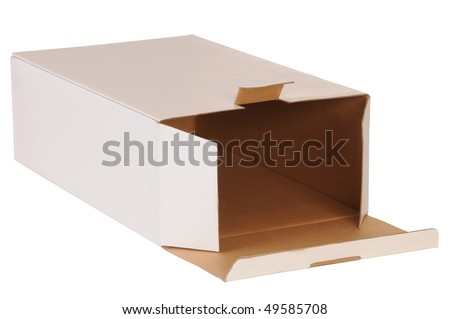 Open box. Isolated