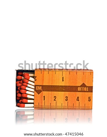 Open box of matches isolated on white - stock photo
