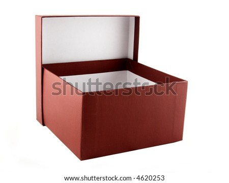 Open brown box