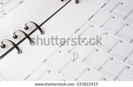 open business agenda calendar - stock photo