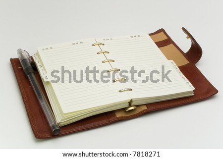 open business diary - stock photo