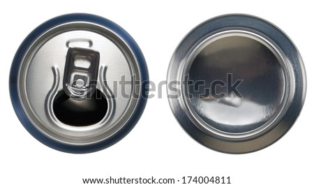 Open can and bottom can - stock photo