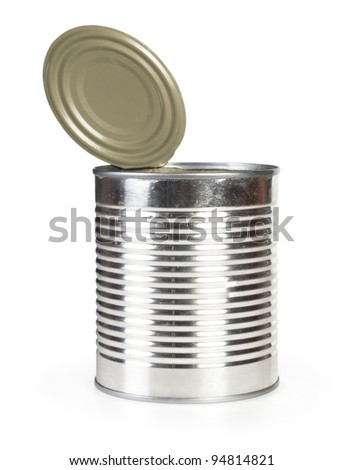 open canned food - stock photo