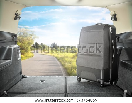 open car and bag