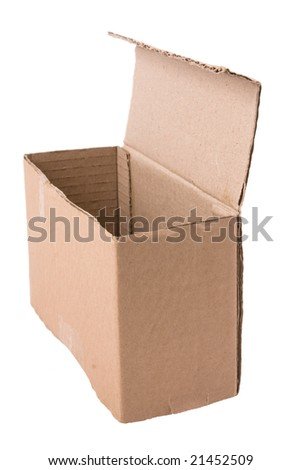open cardboard package