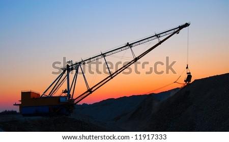 Open cast mining - stock photo
