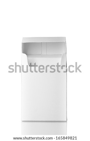 Open cigarettes pack without cigarettes isolated on white background - stock photo