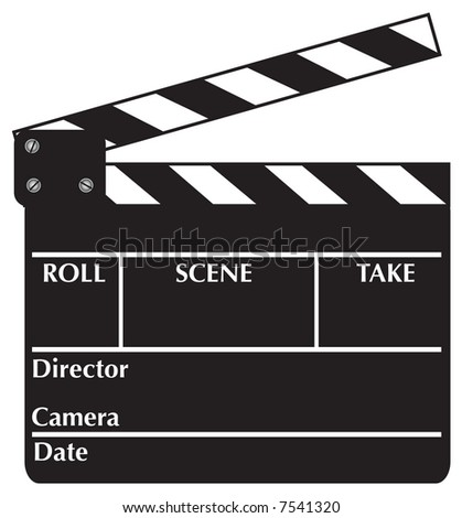 Open Clapboard - stock photo