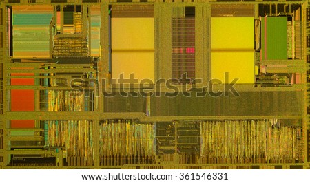 Open computer cpu with colorful reflection. Close up - stock photo