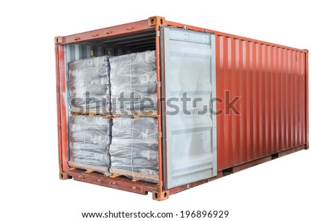 Open container on white background - stock photo