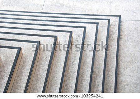 open corner stair - stock photo