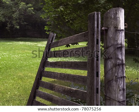 Open Country Gate - stock photo