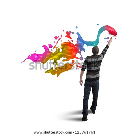 Open creativity in the business concept - stock photo