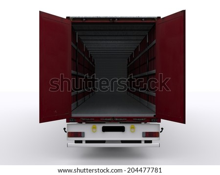 open curtainside trailer - stock photo