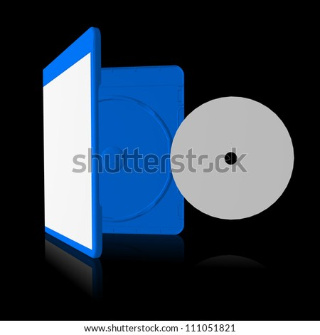 Open disc storage box with disc - stock photo