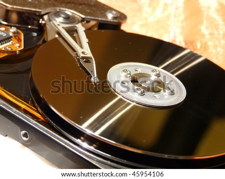 open disk - stock photo
